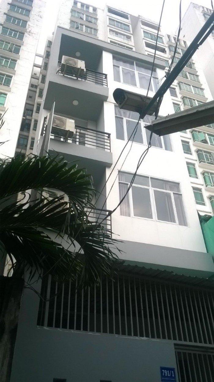 Nhà 5 x 12m- 4 tầng- hẻm xe hơi 791 trần xuân soạn quận 7