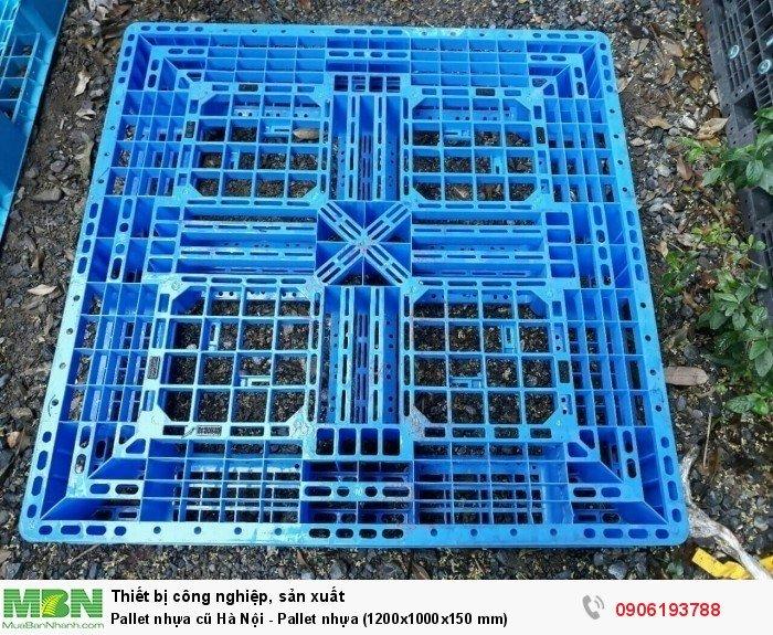 Pallet nhựa cũ Hà Nội - Pallet nhựa (1200x1000x150 mm)