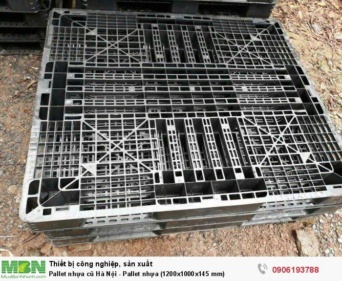 Pallet nhựa cũ Hà Nội - Pallet nhựa (1200x1000x145 mm)