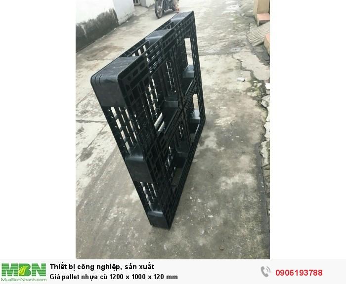 Giá pallet nhựa cũ 1200 x 1000 x 120 mm - Miễn phí vận chuyển với số lượng lớn.