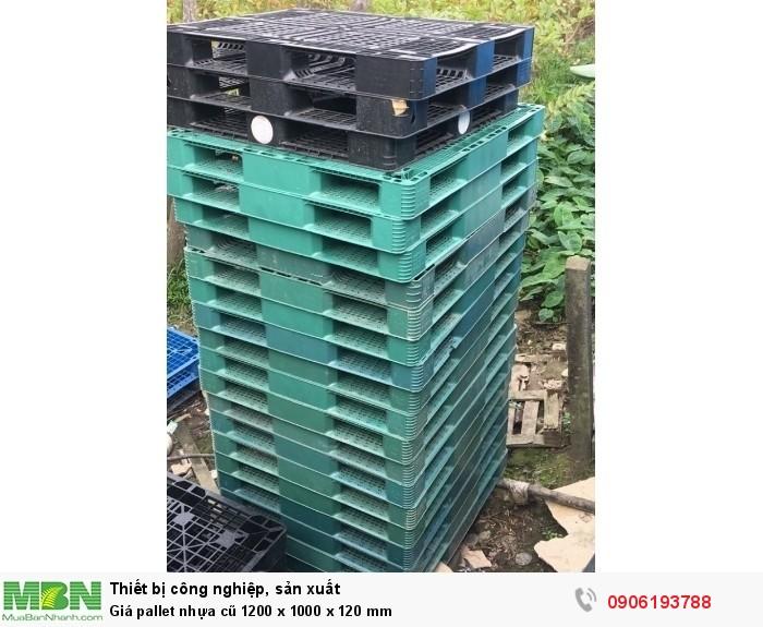 Giá pallet nhựa cũ 1200 x 1000 x 120 mm - Hỗ trợ thủ tục nhanh chóng cho các Khu Công Nghiệp