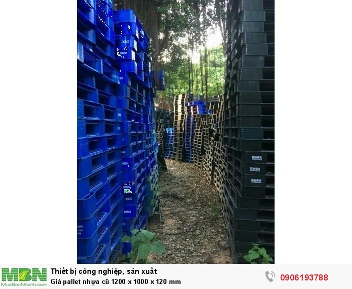 Giá pallet nhựa cũ 1200 x 1000 x 120 mm - Hotline: 0906193788 (24/24)