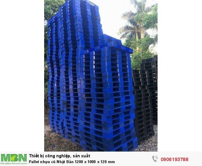 Pallet nhựa cũ Nhật Bản 1200 x 1000 x 120 mm - Hỗ trợ miễn phí vận chuyển khi mua số lượng lớn - Hotline: 0906193788 (24/24)