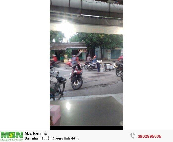 Bán nhà mặt tiền đường Linh Đông