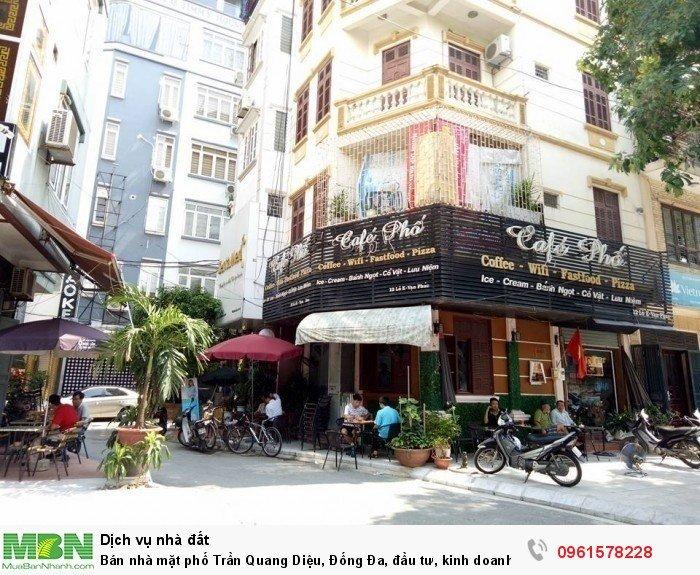 Bán nhà mặt phố Trần Quang Diệu, Đống Đa, đầu tư, kinh doanh, lô góc 45m, 17.9 tỷ.