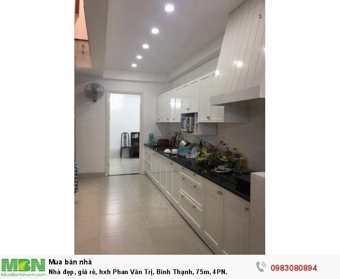 Nhà đẹp, giá rẻ, hxh Phan Văn Trị, Bình Thạnh, 75m, 4PN.
