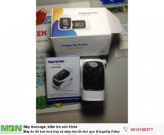 Máy đo độ bảo hoà Oxy và nhịp tim rất nhỏ gọn (Fingertip Pulse Oximeter)