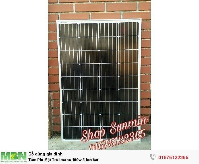 Tấm Pin Mặt Trời mono 100w 5 busbar