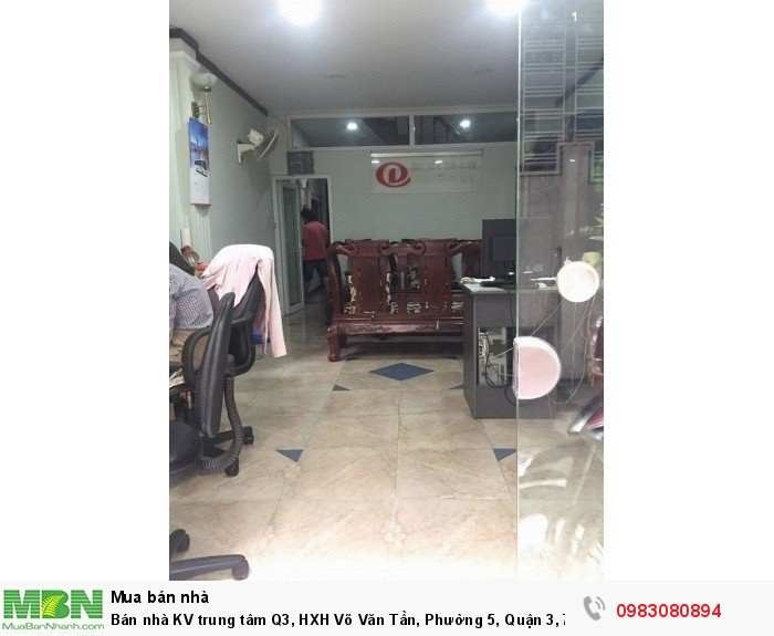 Bán nhà KV trung tâm Q3, HXH Võ Văn Tần, Phường 5, Quận 3, 72m.