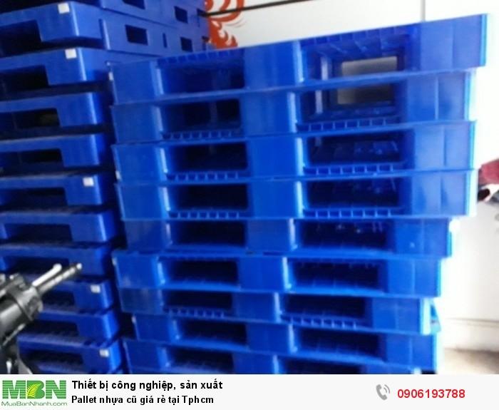 Pallet nhựa cũ giá rẻ tại Tphcm. Liên hệ: 0906193788 (24/24 -  Phòng Kinh Doanh)0
