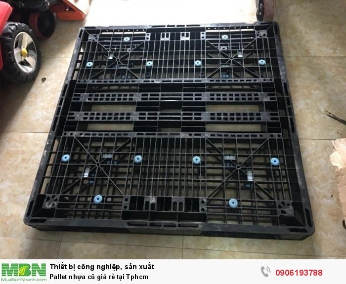 Pallet nhựa cũ giá rẻ tại Tphcm. Lượng hàng cung ứng ổn định, lâu dài. Liên hệ: 0906193788 (24/24 -  Phòng Kinh Doanh)2