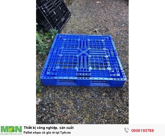 Pallet nhựa cũ giá rẻ tại Tphcm. Liên hệ: 0906193788 (24/24 -  Phòng Kinh Doanh)3