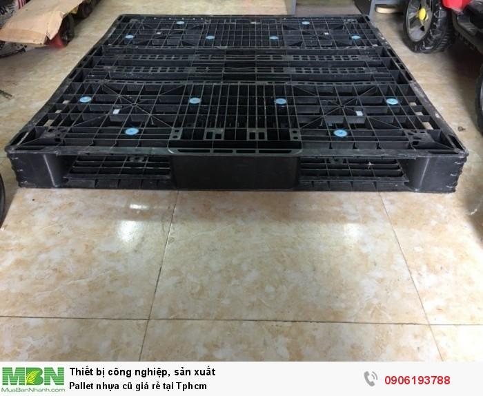 Pallet nhựa cũ giá rẻ tại Tphcm. Giao hàng toàn quốc. Liên hệ: 0906193788 (24/24 -  Phòng Kinh Doanh)7