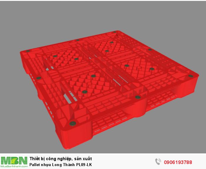 Pallet nhựa Long Thành PL09-LK, còn nhiều loại pallet nhựa Long Thành khác. Liên hệ: 0906193788 (24/24 - Phòng Kinh Doanh)