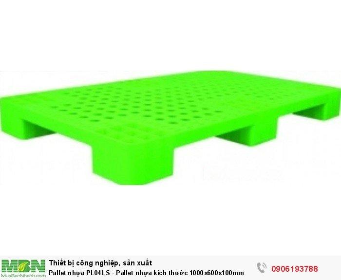 Pallet nhựa PL04LS - Pallet nhựa kích thước 1000x600x100mm