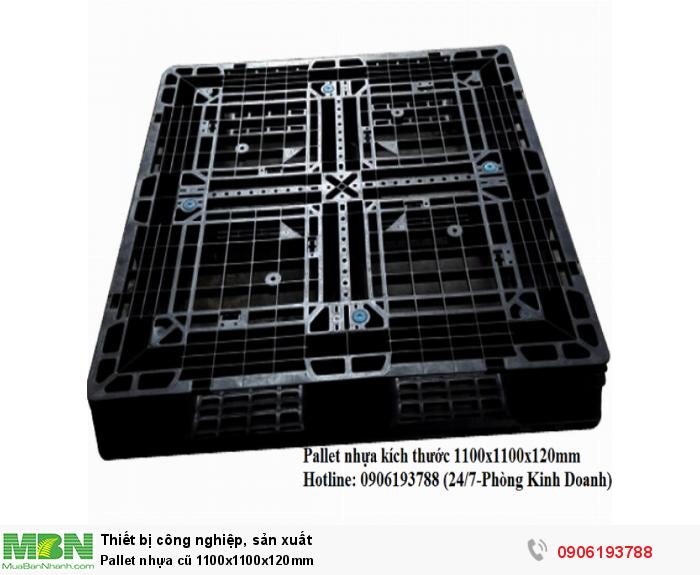 Pallet nhựa cũ 1100x1100x120mm Liên hệ: 0906193788 (24/24 - Phòng Kinh Doanh)