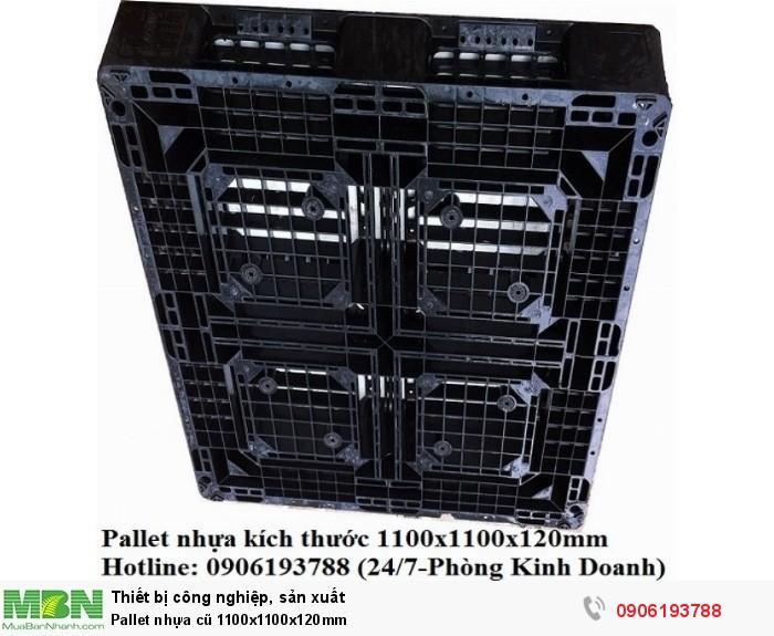 Pallet nhựa cũ 1100x1100x120mm Miễn phí vận chuyển số lượng lớn. Liên hệ: 0906193788 (24/24 - Phòng Kinh Doanh)