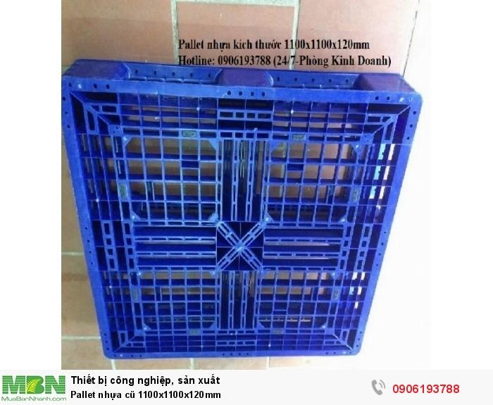 Pallet nhựa cũ 1100x1100x120mm - Giao hàng toàn quốc Liên hệ 0906193788 (24/24 - Phòng Kinh Doanh)