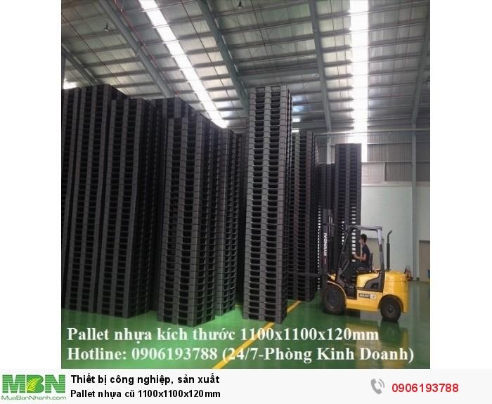 Pallet nhựa cũ 1100x1100x120mm