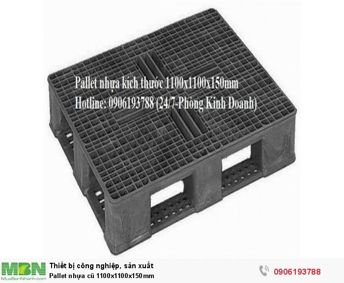Pallet nhựa cũ 1100x1100x150mm Liên hệ 0906193788 (24/24 - Phòng Kinh Doanh)2