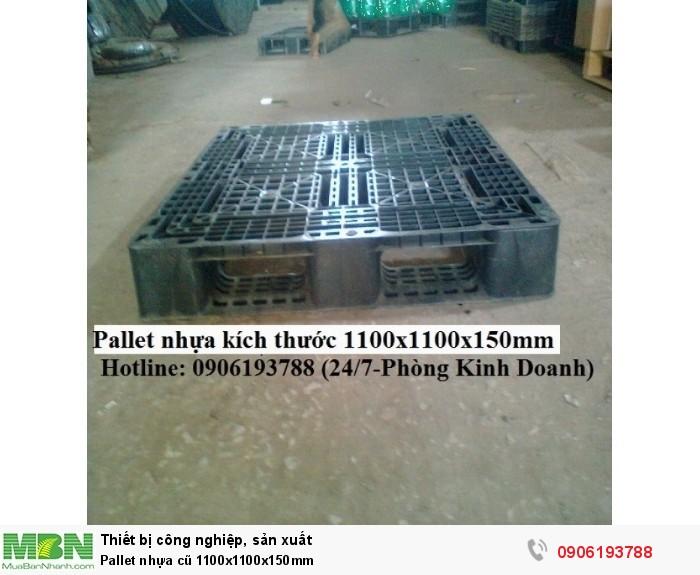 Pallet nhựa cũ 1100x1100x150mm3