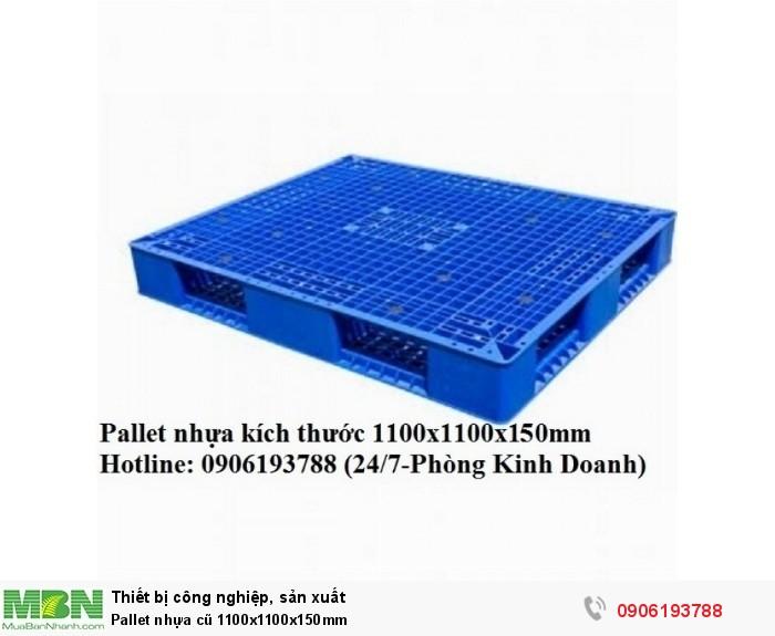 Pallet nhựa cũ 1100x1100x150mm4