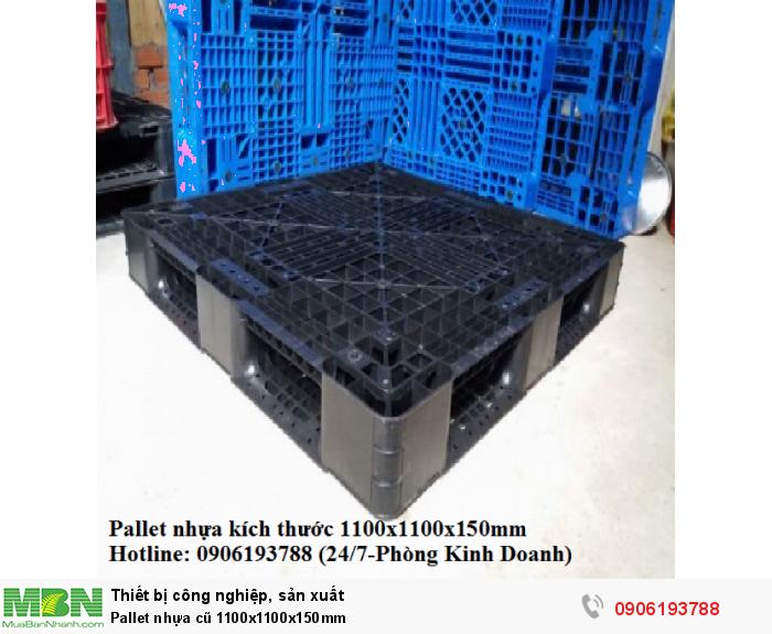 Pallet nhựa cũ 1100x1100x150mm5