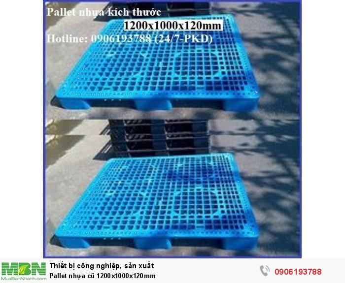 Pallet nhựa cũ 1200x1000x120mm Liên hệ: 0906193788 (24/24)
