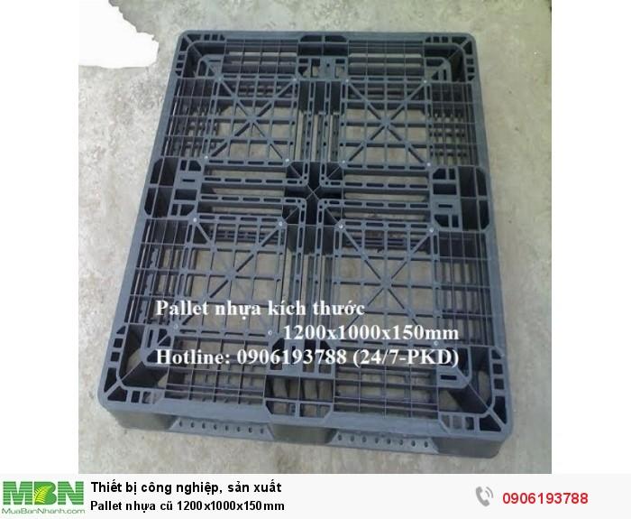 Pallet nhựa cũ 1200x1000x150mm Giao hàng toàn quốc Liên hệ: 0906193788 (24/24)