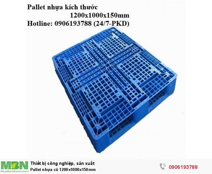 Pallet nhựa cũ 1200x1000x150mm Liên hệ: 0906193788 (24/24)