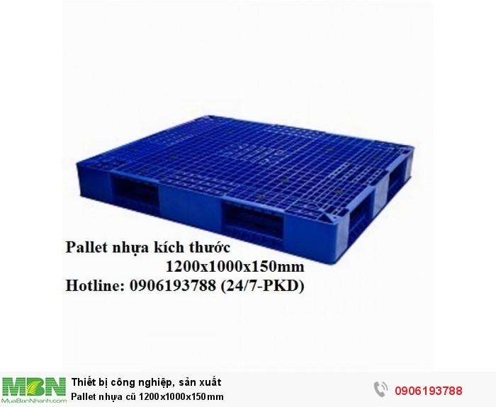 Pallet nhựa cũ 1200x1000x150mm
