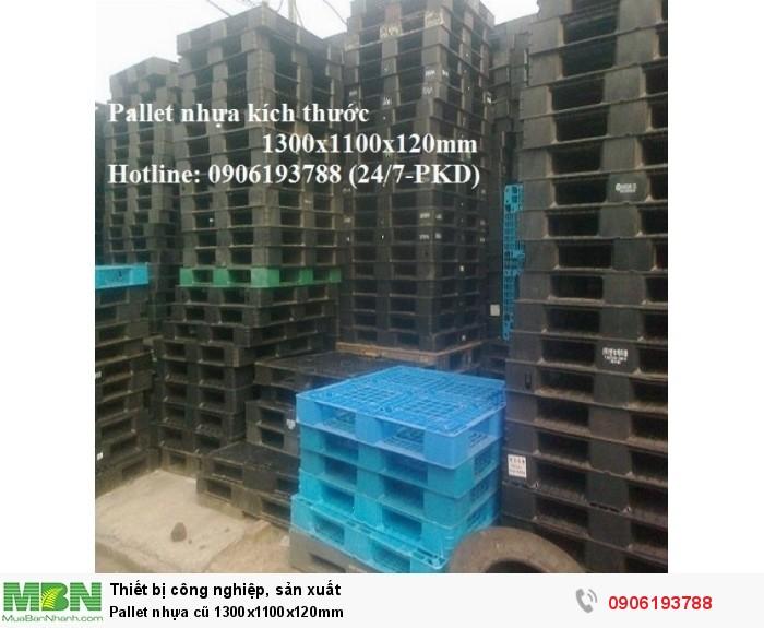 Pallet nhựa cũ 1300x1100x120mm
