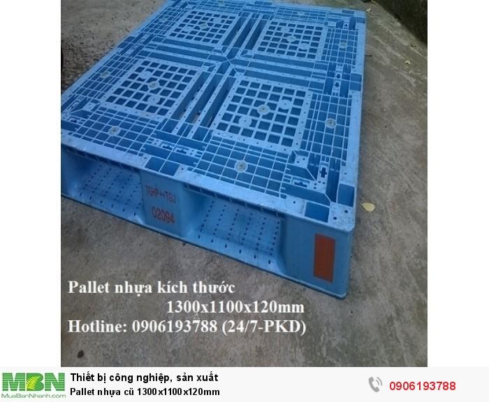 Pallet nhựa cũ 1300x1100x120mm Miễn phí vận chuyển số lượng lớn Liên hệ 0906193788 (24/24)