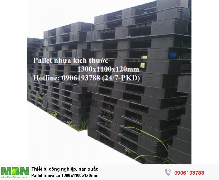 Pallet nhựa cũ 1300x1100x120mm Liên hệ 0906193788 (24/24)