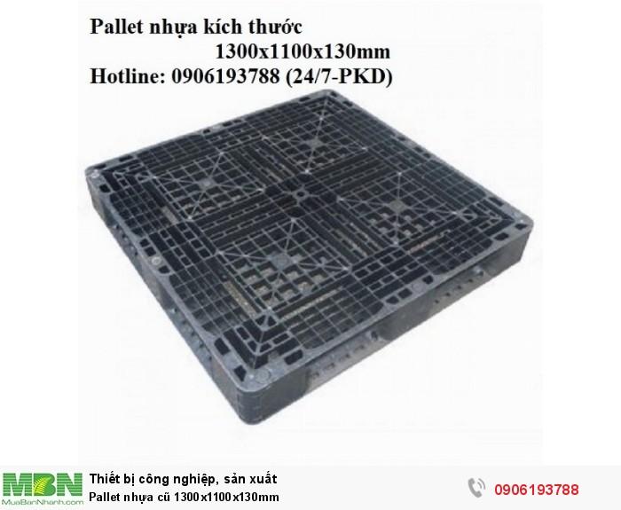 Pallet nhựa cũ 1300x1100x130mm Liên hệ: 0906193788 (24/24)