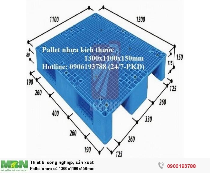 Pallet nhựa cũ 1300x1100x150mm Miễn phí vận chuyển số lượng lớn Liên hệ: 0906193788 (24/24)