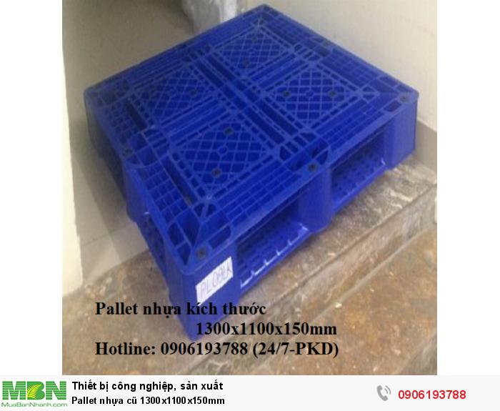 Pallet nhựa cũ 1300x1100x150mm Giao hàng toàn quốc Liên hệ: 0906193788 (24/24)