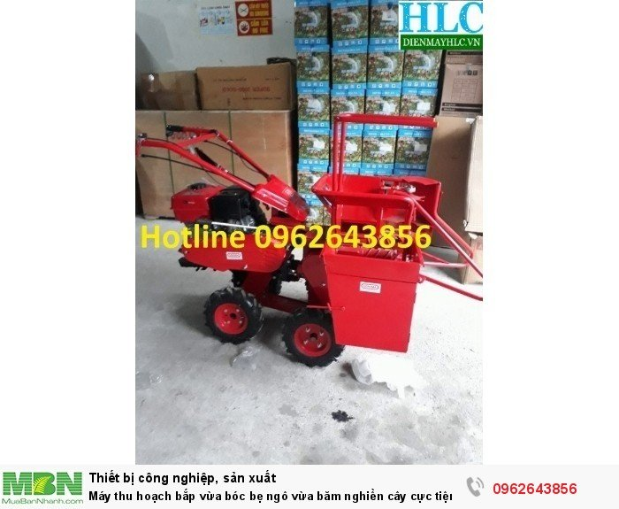 Máy thu hoạch bắp 09626438562