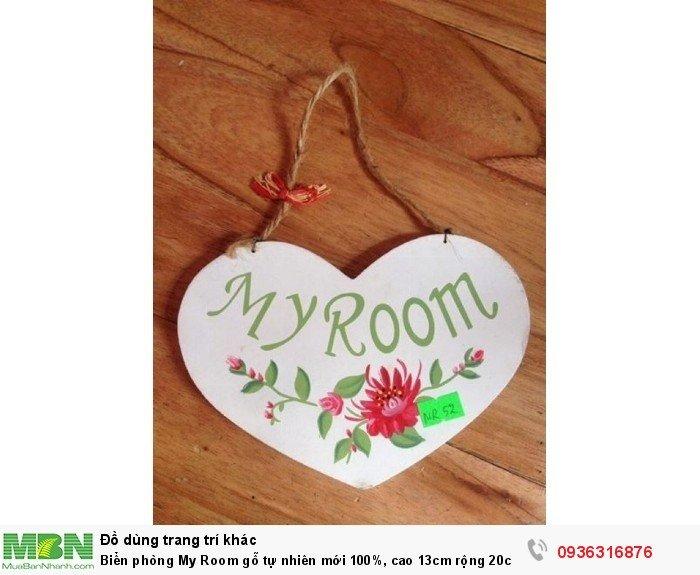 Biển phòng My Room gỗ tự nhiên mới 100%, cao 13cm rộng 20cm, giá siêu thị 199k giá thanh lý 50k0