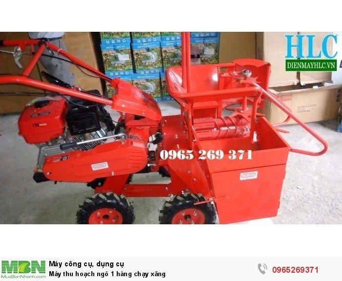 Máy thu hoạch ngô 1 hàng chạy xăng1