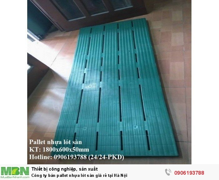 Công ty bán pallet nhựa lót sàn giá rẻ tại Hà Nội. Liên hệ: 0906193788 (24/24 - Phòng Kinh Doanh)