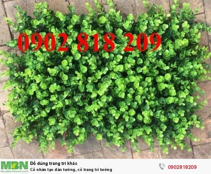 Cỏ nhân tạo dán tường, cỏ trang trí tường2