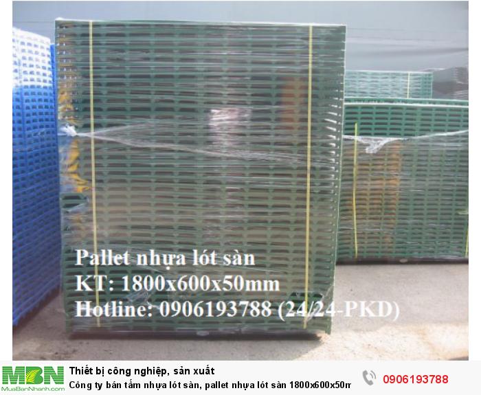 Công ty bán tấm nhựa lót sàn, pallet nhựa lót sàn 1800x600x50mm - Giao hàng toàn quốc