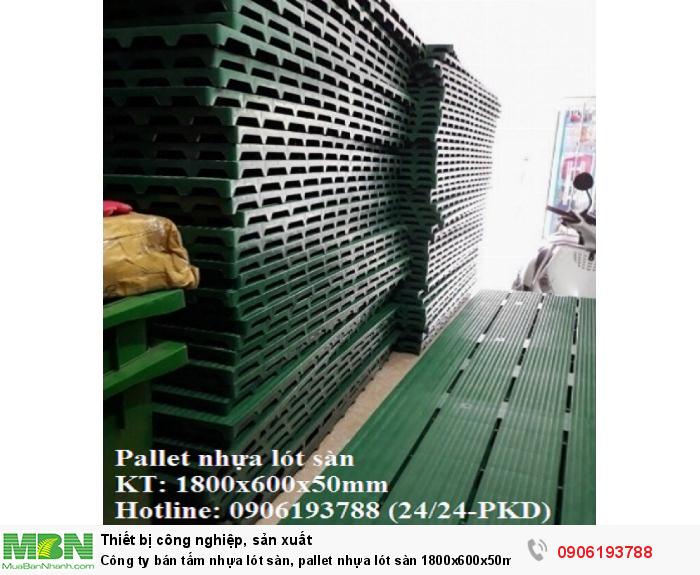 Công ty chuyên cung cấp tấm nhựa lót sàn, pallet nhựa lót sàn 1800x600x50mm