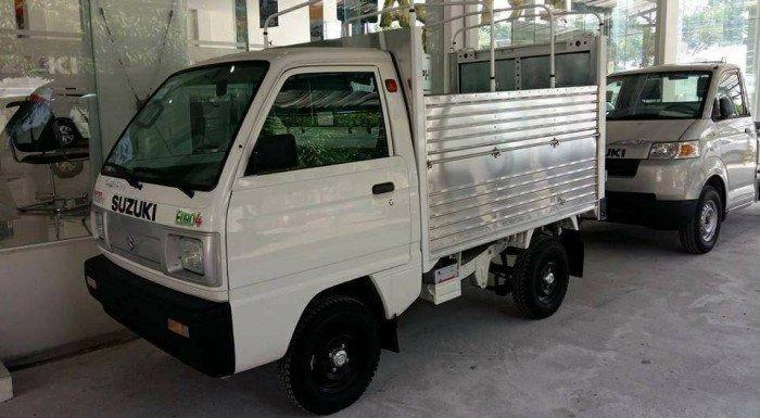 Bán ô tô Suzuki Super Carry Truck thùng mui bạt đời 2017 giá khuyến mãi Tết 2018
