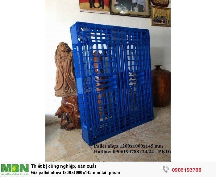 Giá pallet nhựa 1200x1000x145 mm tại tphcm, giao hàng toàn quốc - Liên hệ: 0906193788 (24/24 - Phòng Kinh Doanh)