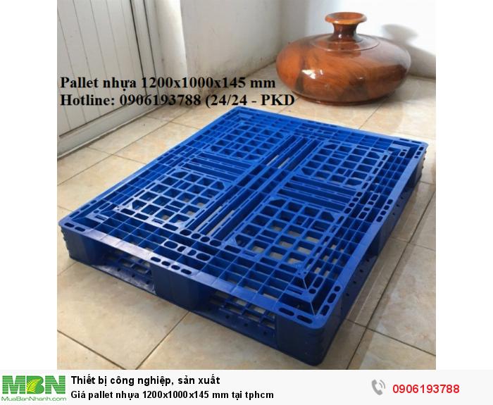 Giá pallet nhựa 1200x1000x145 mm tại tphcm - Liên hệ: 0906193788 (24/24 - Phòng Kinh Doanh)