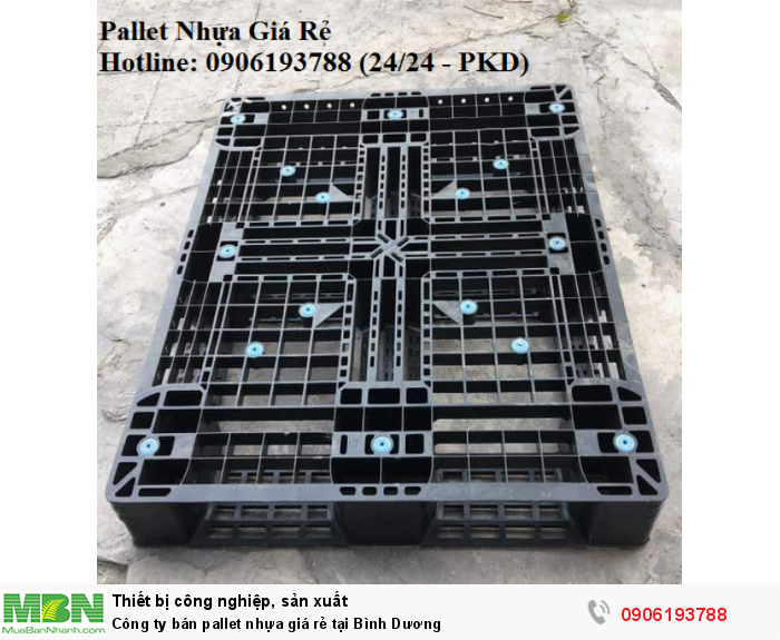 Pallet nhựa giá rẻ tại Bình Dương, miễn phí vận chuyển số lượng lớn. Liên hệ: 0906193788 (24/24 - Phòng Kinh Doanh)