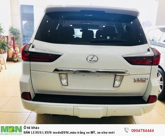 BÁN LEXUS LX570 model2016,màu trắng xe MỸ, xe như mới