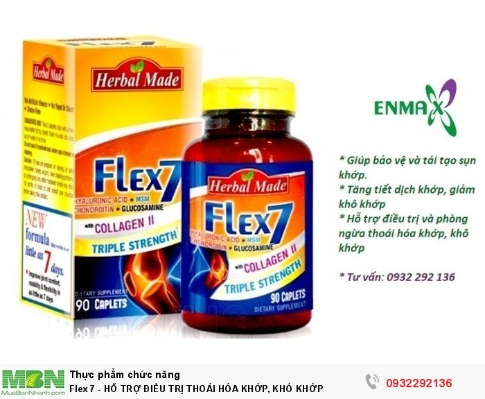 Flex 7 - hỗ trợ điều trị thoái hóa khớp, khô khớp